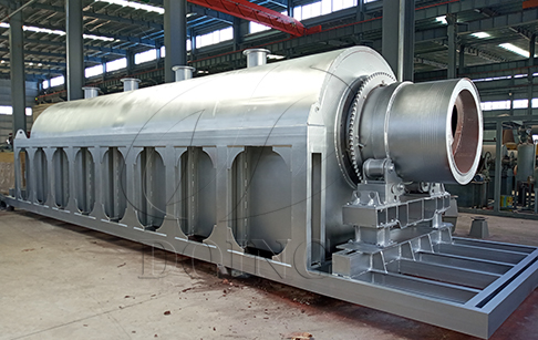 Fully continuous waste tire to oil pyrolysis plant manufacturing video