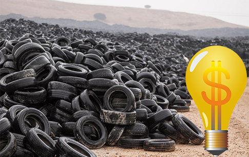 Why is tire pyrolysis better than combustion?