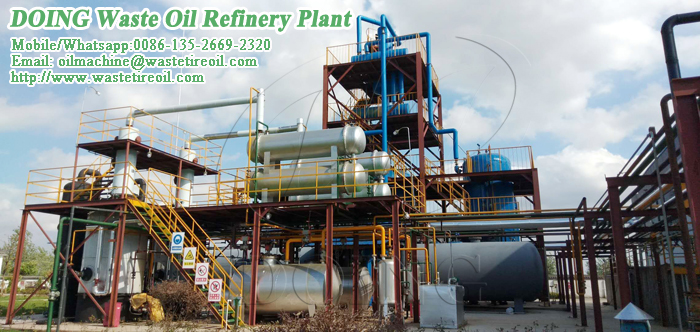 used engine oil distillation machine