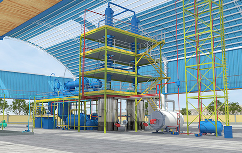 What is the newest used engine oil distillation technology?