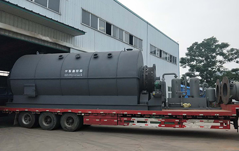 12TPD waste plastic pyrolysis plant was delivered to Romania