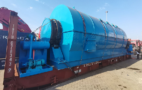 12T plastic to oil conversion machine was sent to France