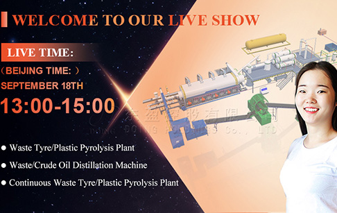 Live playback of solid waste to energy pyrolysis plant manufacturing workshop