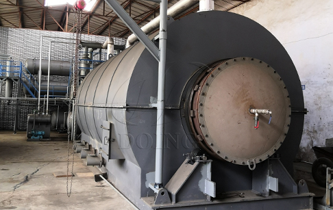 Waste tire to oil plant was installed started production in China
