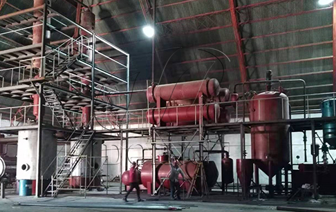 Small capacity waste oil distillation machine