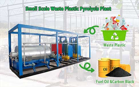 Small scale waste plastic pyrolysis plant