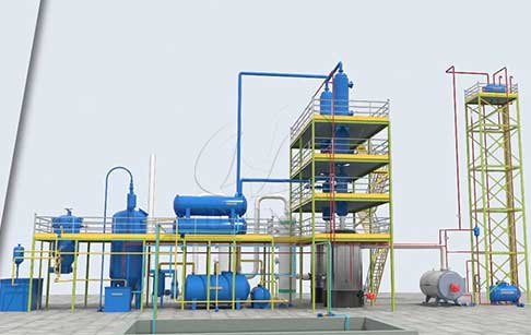 3D animation of DOING used motor oil distillation plant