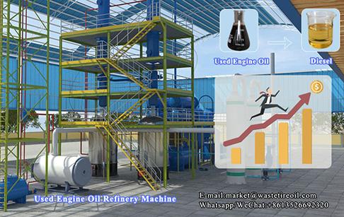 Engine oil purification machine