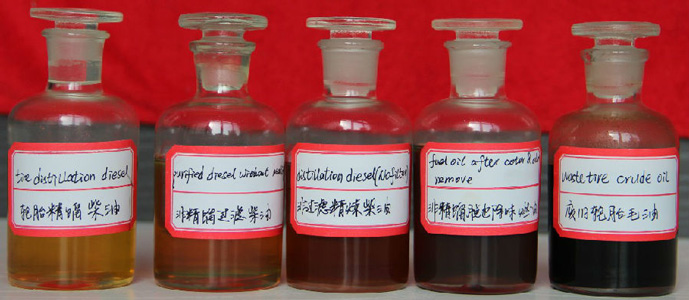 plastic oil and tire oil application
