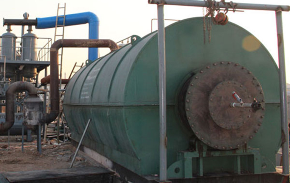High oil rate waste plastic pyrolysis oil plant