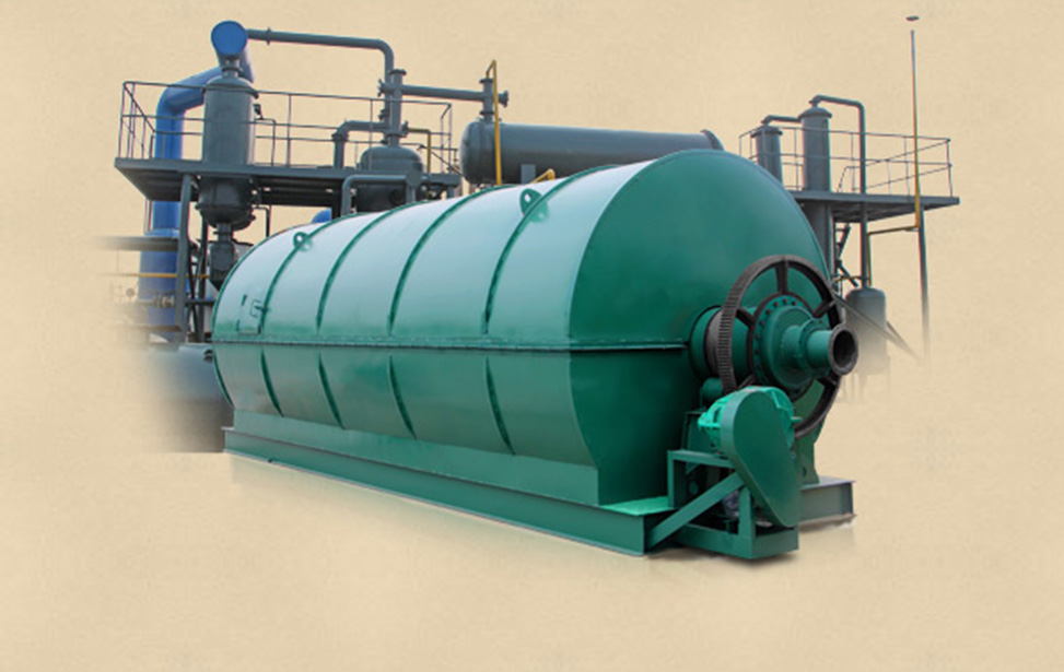 Waste plastic recycling to fuel oil plant