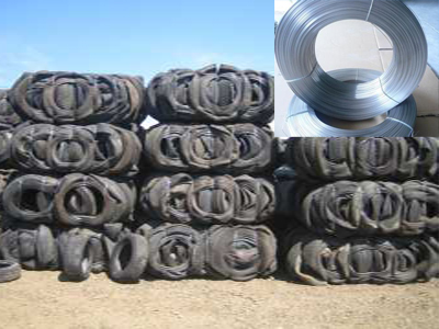 steel wire extracted from the waste tyre