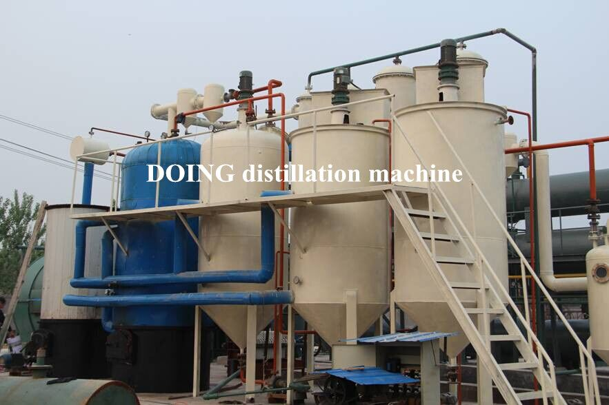 China Doing Distillation Machine for recycling waste and crude oil to diesel