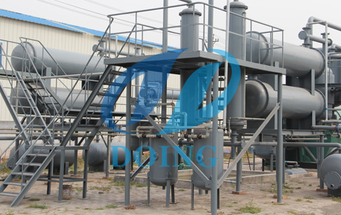 waste plastic pyrolysis oil machine