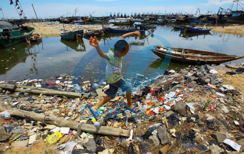 waste plastic not to reducing pollution marine
