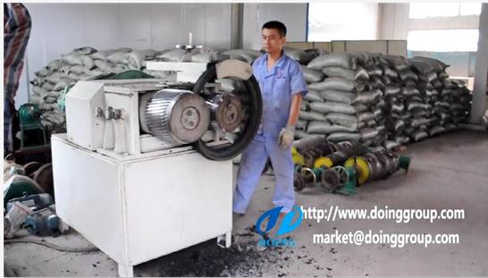 Waste tyres steel wire rolling separator running machine