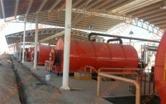 Nigeria customer buy the third waste tire pyrolysis machine from Doing