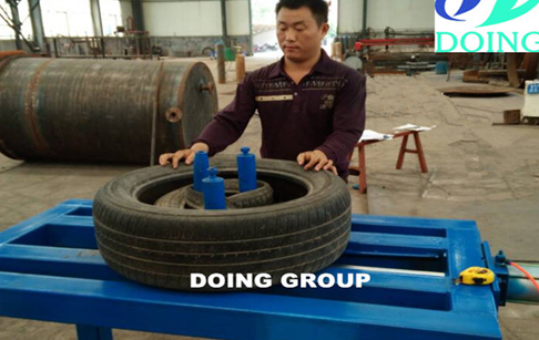 waste tire doubling machine