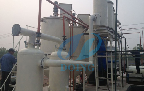 waste plastic to oil refining machine