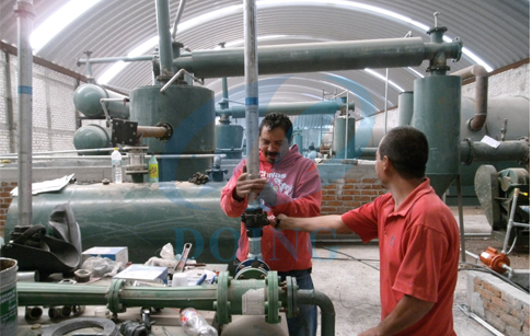 Mexico customer bought 6 sets waste tyre pyrolysis plant in 2013