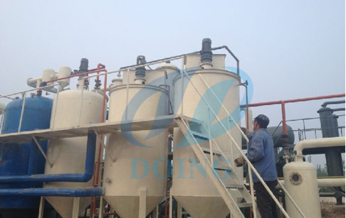 DOING waste oil refining machine running successfully in Lebanon