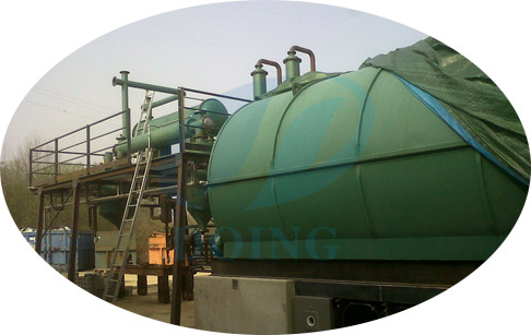 Italy customer set up successfully waste plastic pyrolysis