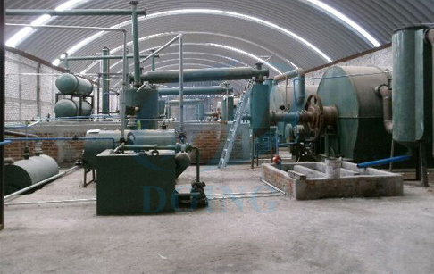 waste plastic to oil processing technology