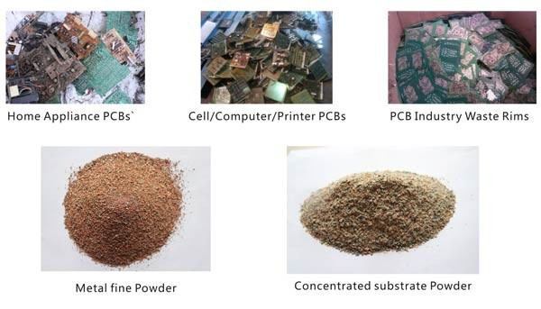 pcb circuit board recycling equipment