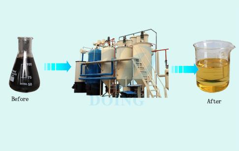 waste plastic oil to diesel machine