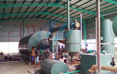Waste tyre/plastic pyrolysis plant project in Bangladesh _In Asia