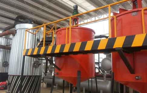waste oil distillation line