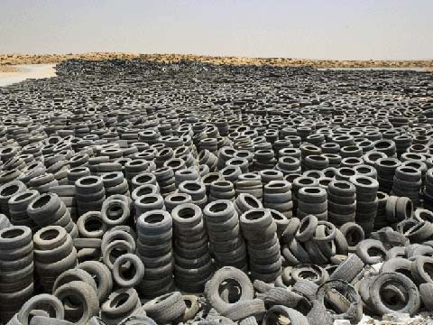 the issue of discarding old tires and ways to solve it 300000000 waste tires are created every year, just in the usa that's 9 waste  tires created every second of every day, 7 days a week, 365 days a year.