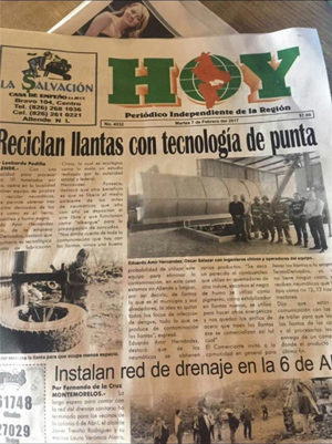 tyre pyrolysis plant in Mexico