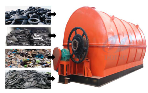 How to convert tyre to oil using machine?