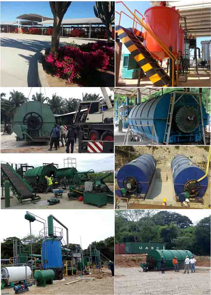 tyre recycling machinery