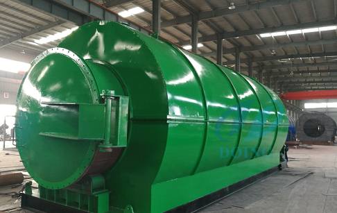 10T/D waste tyre recycling pyrolysis plant delivered to Yunnan
