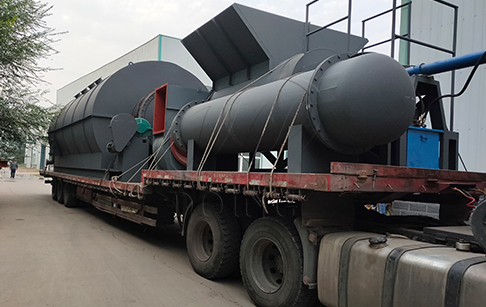 6 sets of 12T waste tyre pyrolysis machine were sent to China's Yunnan