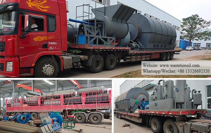 waste tyre pyrolysis to oil machine