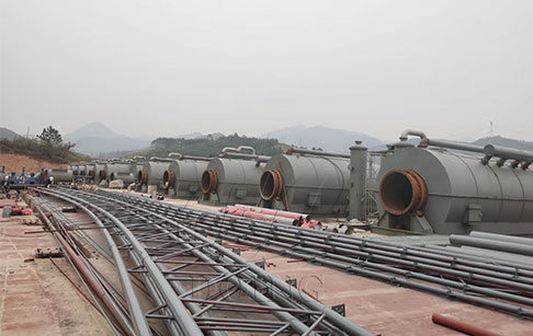 6 sets of 12T waste tyre to oil recycling plant project in Guangxi, China