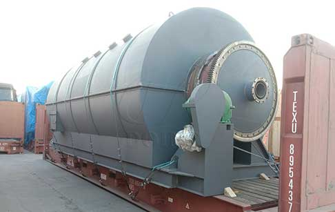 12T waste plastic recycling to oil plant was delivered to India
