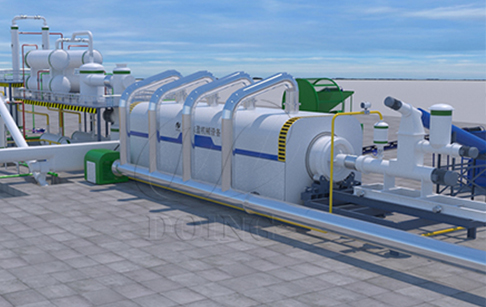 3D animated video of full continuous pyrolysis plant