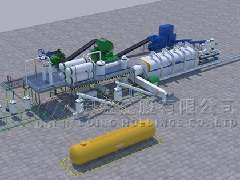 What are the purchase options for waste tire recycling plant that suitable for different processing scales?