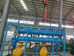 100Kg waste plastic pyrolysis plant delivered to Rio, Brazil