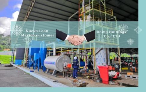 Nuevo Leon, Mexico customer orders two sets of 14-ton waste oil distillation machine